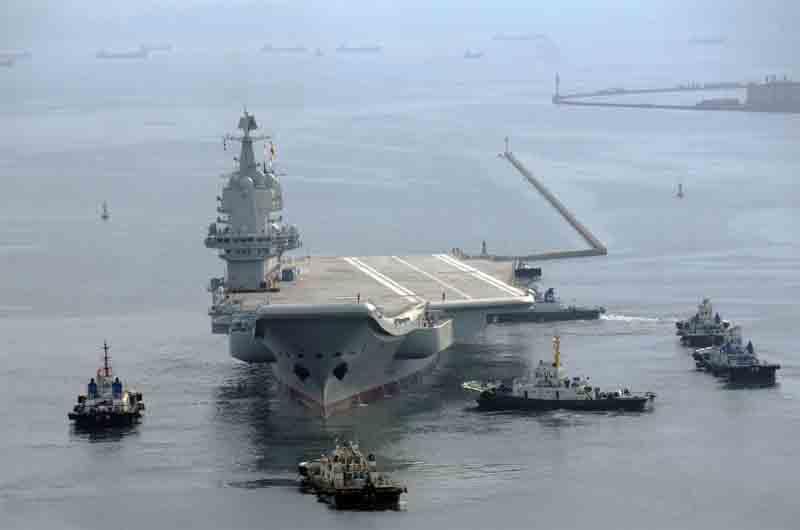 Descubre el primer portaaviones casero de China