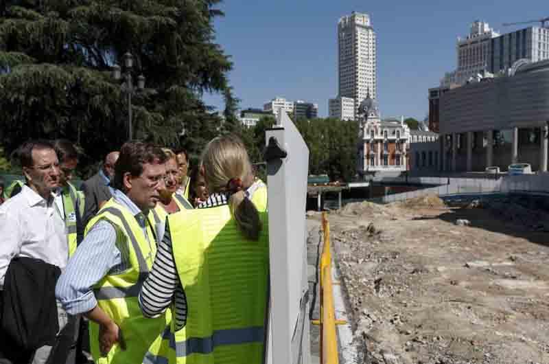 El hallazgo arqueológico retrasará las obras de la Plaza de España