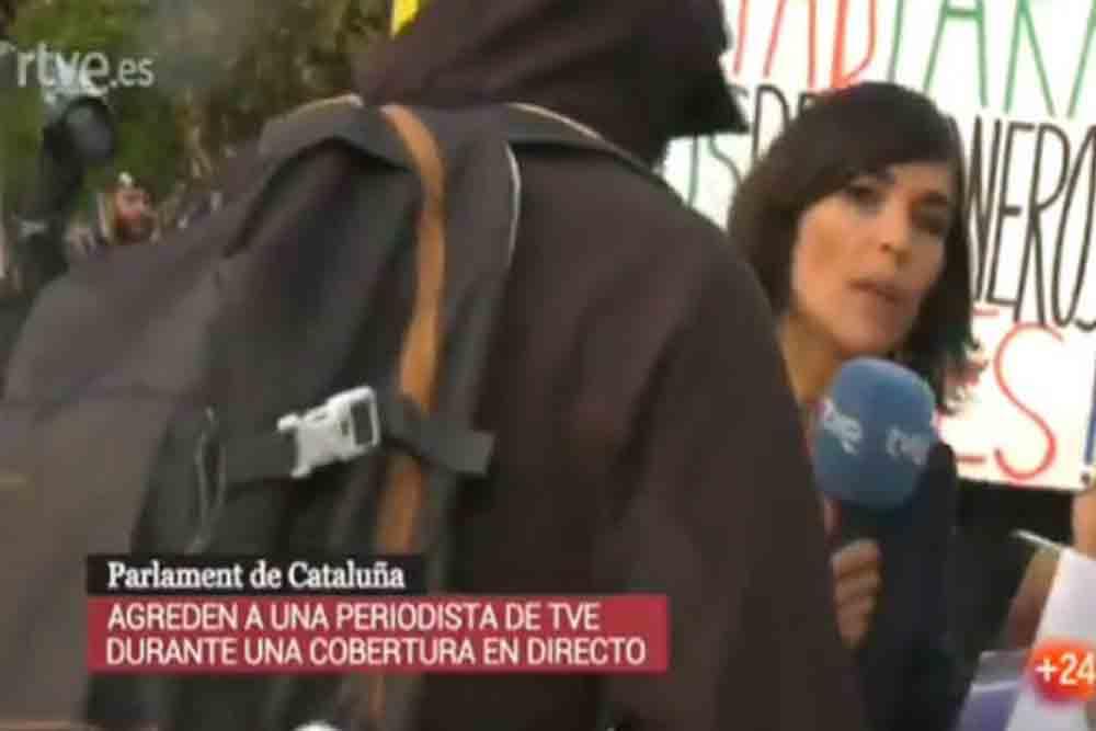 TV3 silencia la agresión a la periodista de Televisión Española