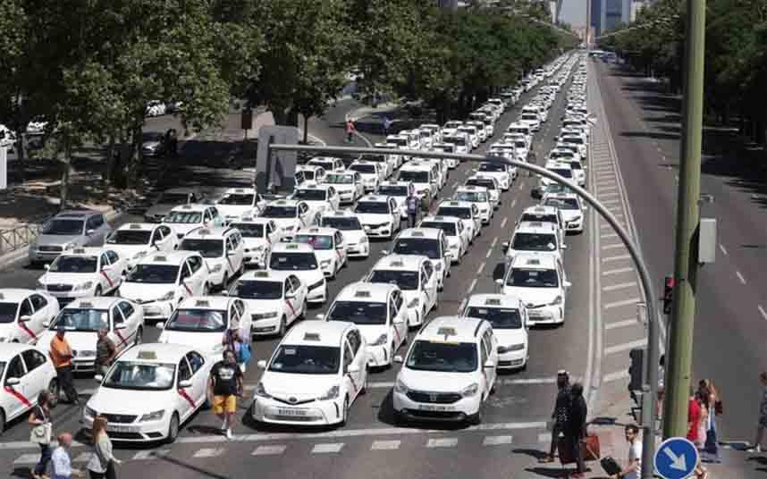 Carta a las asociaciones del sector del taxi de Madrid