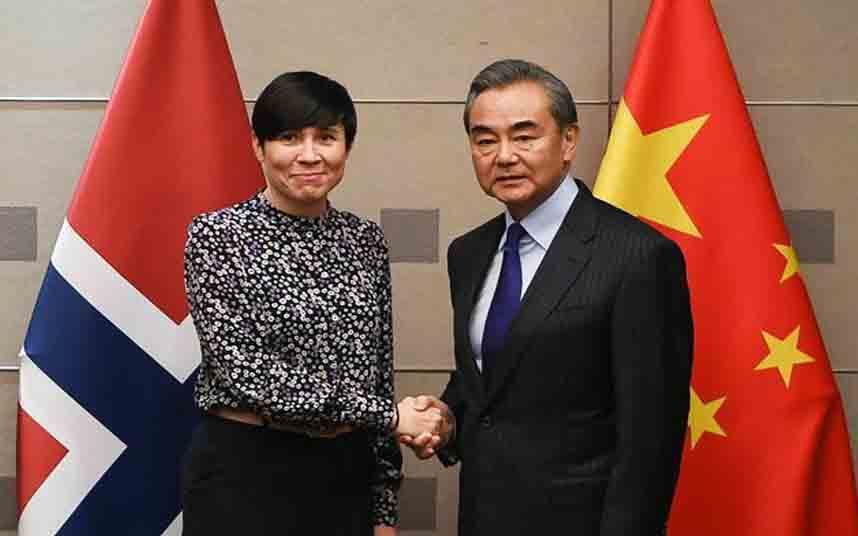 Los ministros de Asuntos Exteriores de China y Noruega se reúnen en Madrid