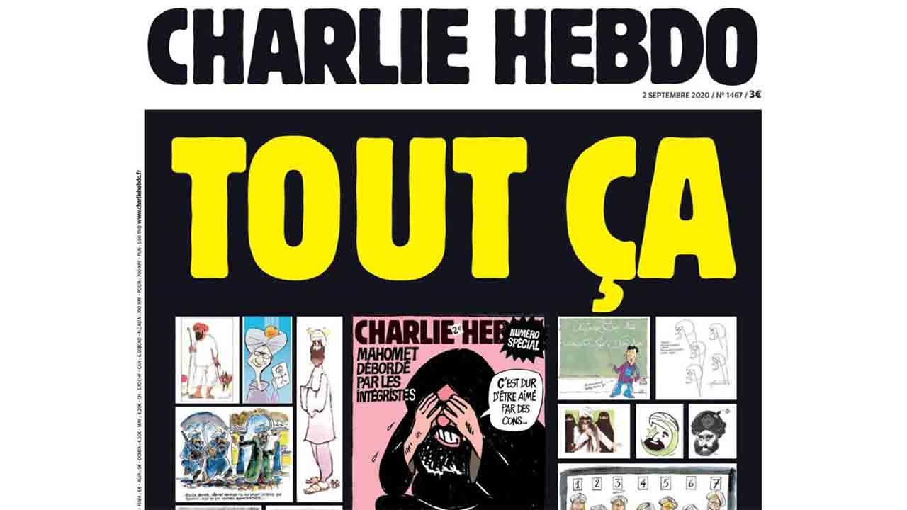 Francia proyecta las caricaturas de Charlie Hebdo en edificios gubernamentales