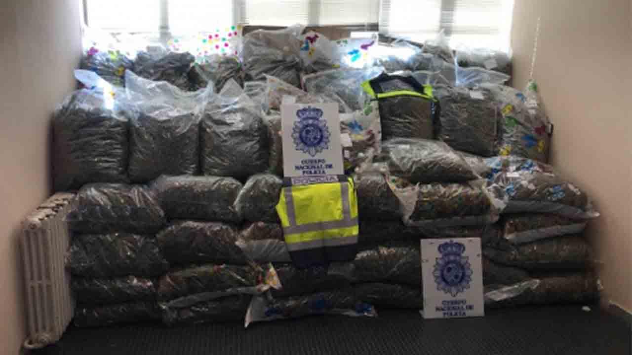 Intervienen 355 kilos de cogollos de marihuana y evitan su venta para la distribución en Alemania