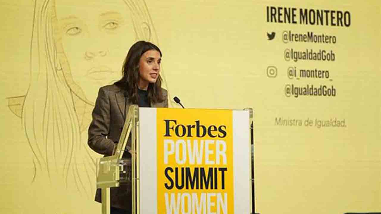 Irene Montero clausura la IV edición del Forbes Power Summit Women