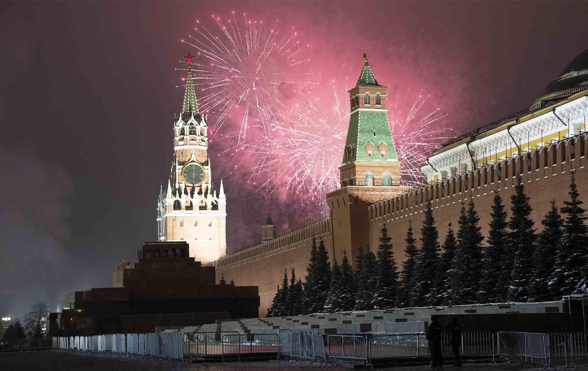 Fuegos artificiales en Moscú - Nuevo año 2021