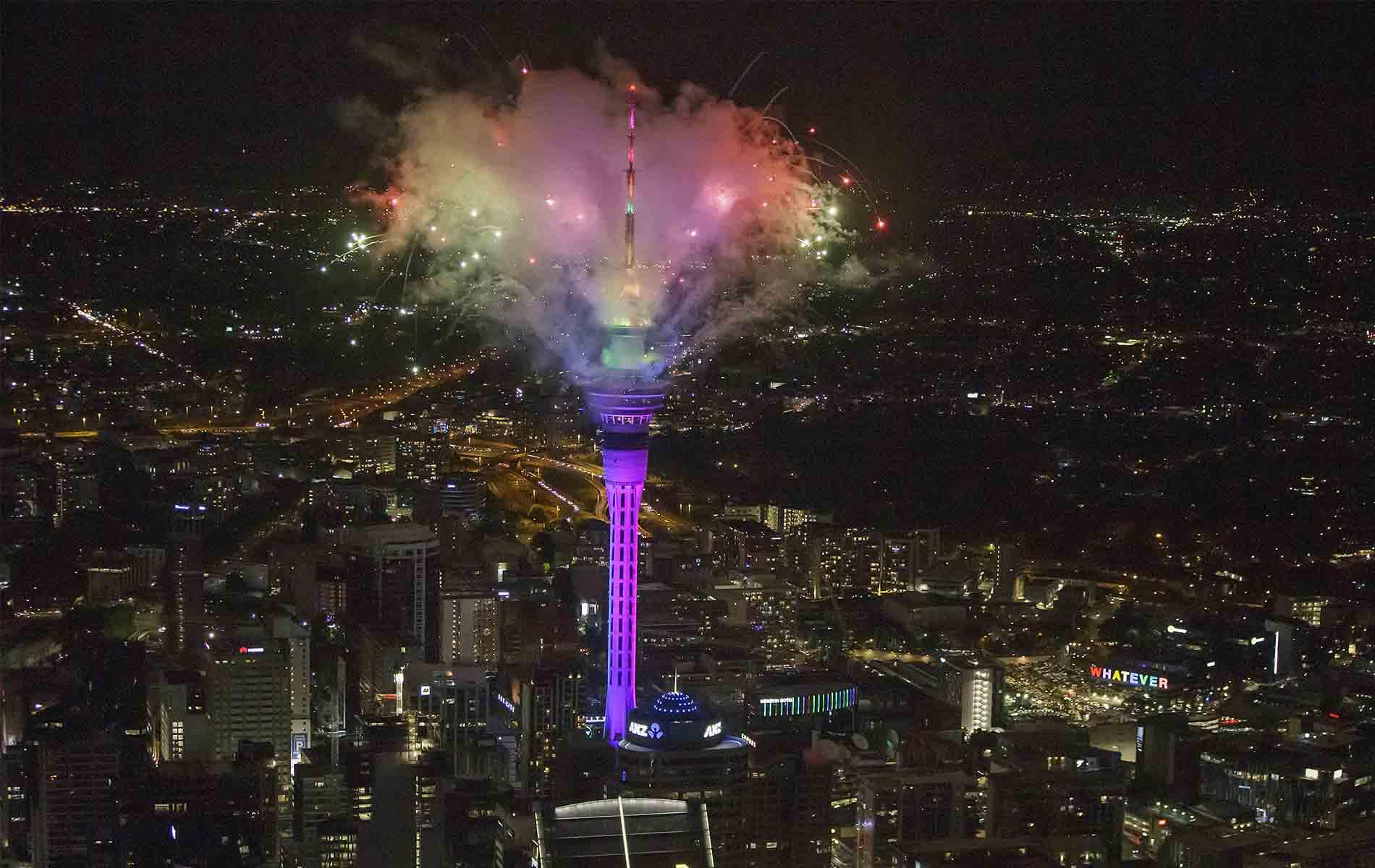 Fuegos artificiales en Nueva Zelanda - Nuevo año 2021