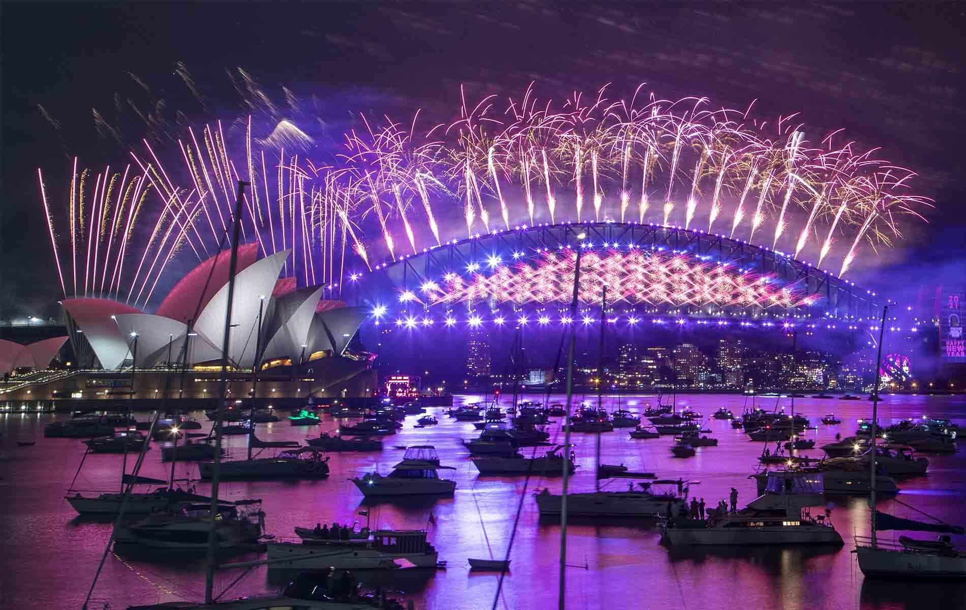 Fuegos artificiales en Sidney - Nuevo año 2021