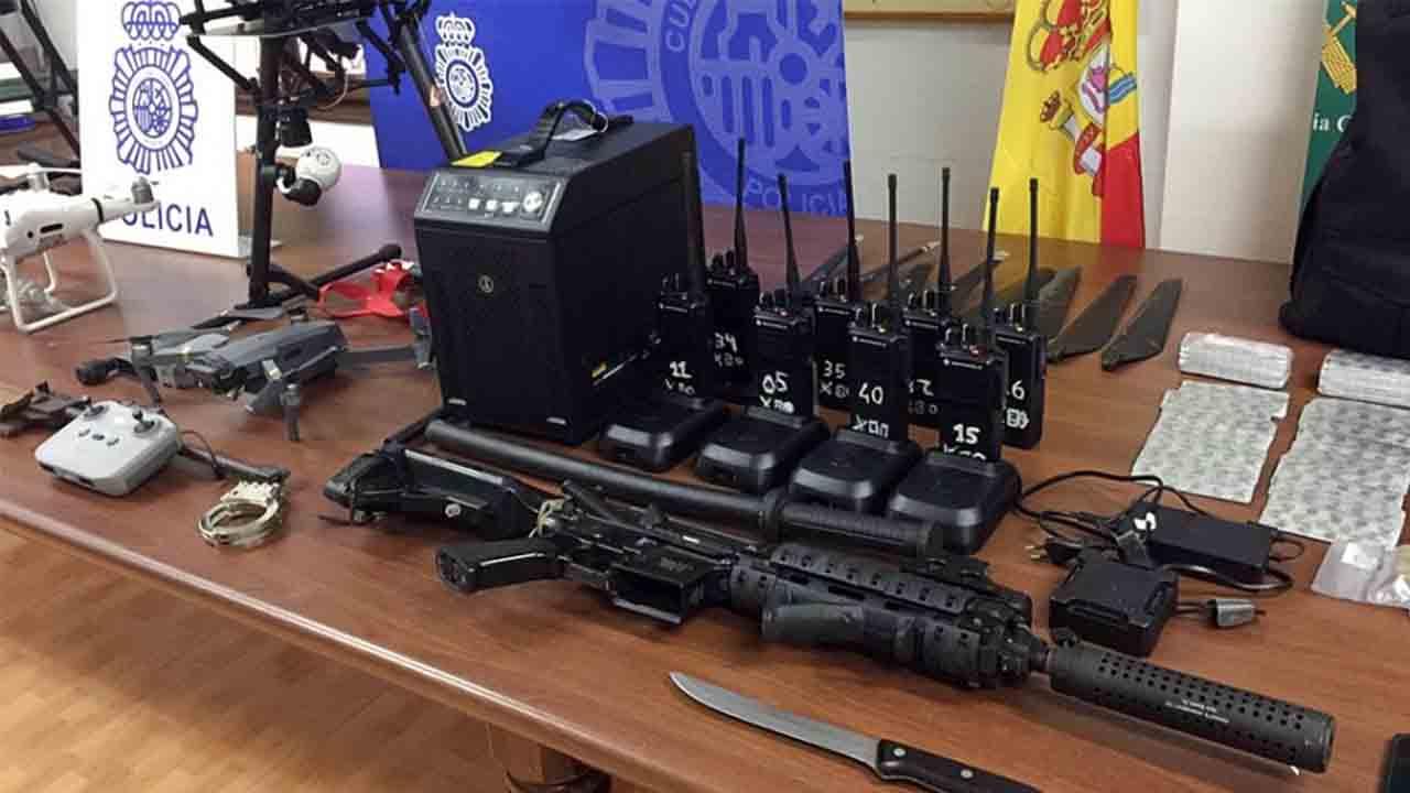 Desarticulan una red que transportaba drogas con drones entre Ceuta y Marruecos